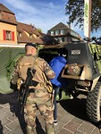 Militaire oefening in Turckheim.