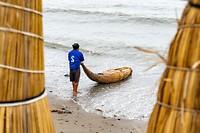 Tot op vandaag varen er nog vissers uit op hun rieten bootjes.