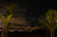 Zo zag het eruit als we 's-avonds naar buiten stapten vanuit onze lodge