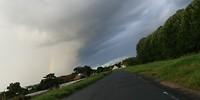 Heavy rain is coming, beautiful sky