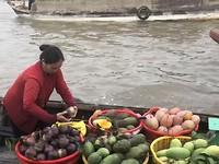 Fruithandel op de Mekong
