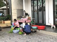 De keuken op straat