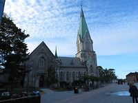 Kerk in het centrum van Kristiansand