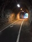 Een van de 2 tunnels vandaag