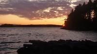 Sunne jachthaven zonsondergang