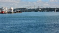 Auckland bay from Queens wharf
