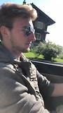 Martijn aan het stuur in Zwitserland