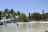 Het zwembad in Airlie Beach