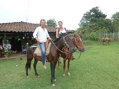 Te paard, de cowboys