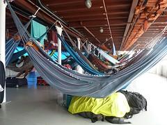 Hangmat op de boot