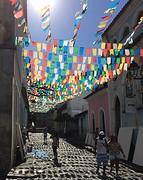 Feestelijke straatjes van pelhourinho