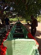 Boot voor 20 personen in aanbouw