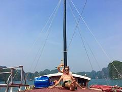 W on deck relaxen