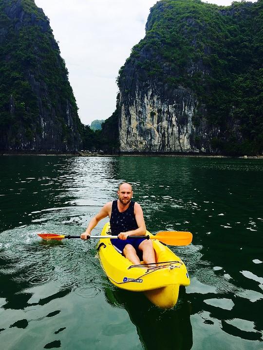 SJ in de kayak
