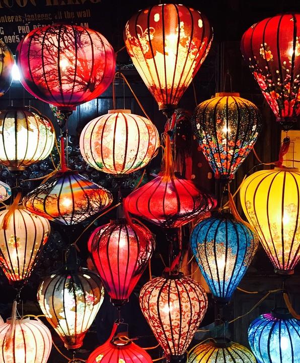 Lampionnen nacht markt