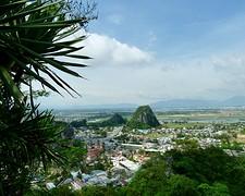 Uitzicht van de marble mountain