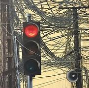 Stoplicht en draden