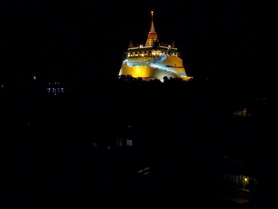 Golden Mount @ night