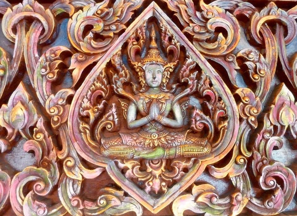 Detail van de pagoe @ the golden mount