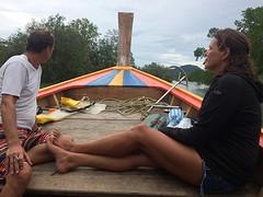 Samen voor op de boot in Laen Son