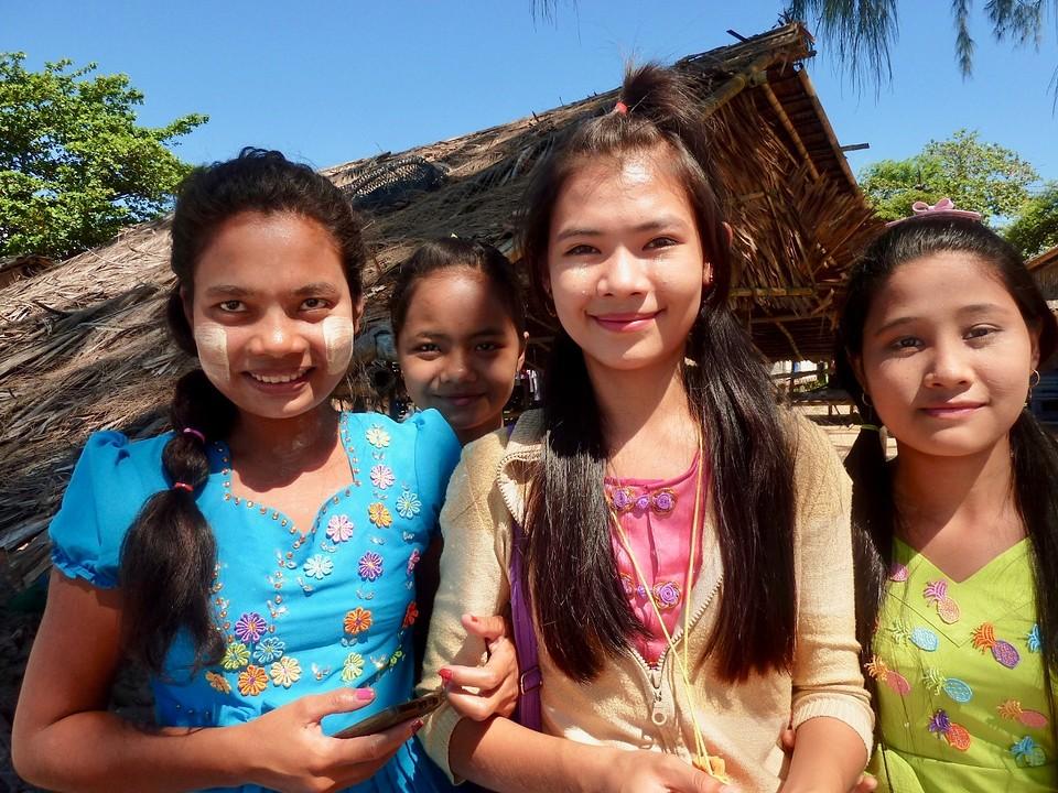 Foto sessie met vier nieuwsgierige meiden