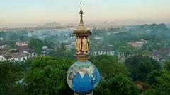 Uitzicht pagoda sunset