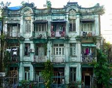 Overburen van het hotel in Yangon