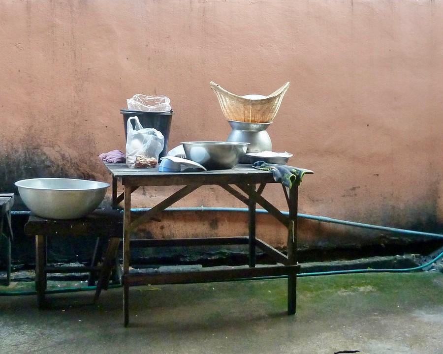 Stilleven streetfood kitchen