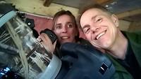Dag 4 -Wim & Carolien in de spechten hut