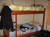 Dag 21 - Onse kamer in Refugio Los Torres Norte