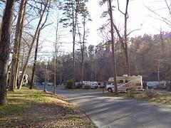 Aankomst op de camping van Hot Springs NP