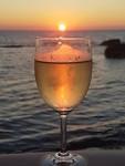 wijn zonsondergang