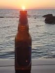 bier zonsondergang