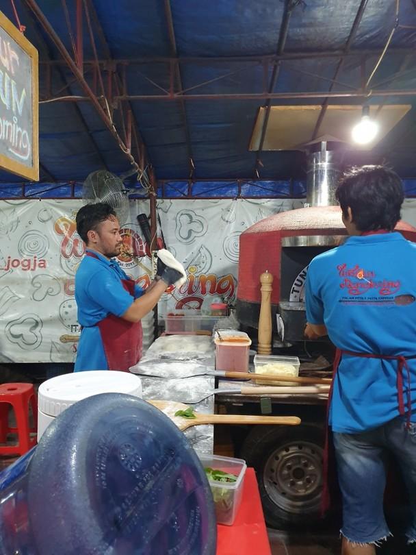 Pizza bedrijf op straat