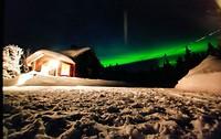 Noorderlicht bij wildernishut