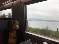 In de trein langs de ZurichSee