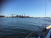 De Damen-werf net voor de Amsterdam Marina