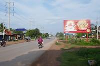 Highway 5 naar de Cambodjaans-Thaise grens