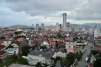 Uitzicht vanaf de rooftopbar