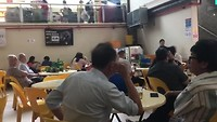 Evening meal at a hawker centre