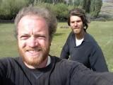 Selfie achterop de hooiwagen