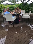 Lunch tijdens onweer