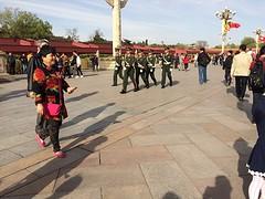 Aflossing van de wacht op het Tianmenplein