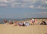 Strand bij camping Stogi