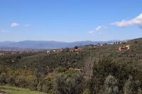 Uitzicht vanaf geboortehuis Leonardo
