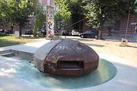 Bunker in het centrum van Tirana