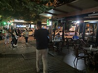 De wijk Blokku in de avond