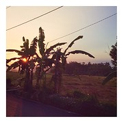 Magical first balinese sunset