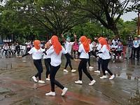 Danswedstrijd bij Lapangan Merdeka
