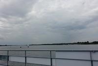 Op de fiets-voetveer naar Zeewolde